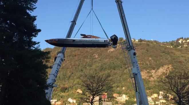 barca centomiglia del lario in cielo, foto mario laviorgna
