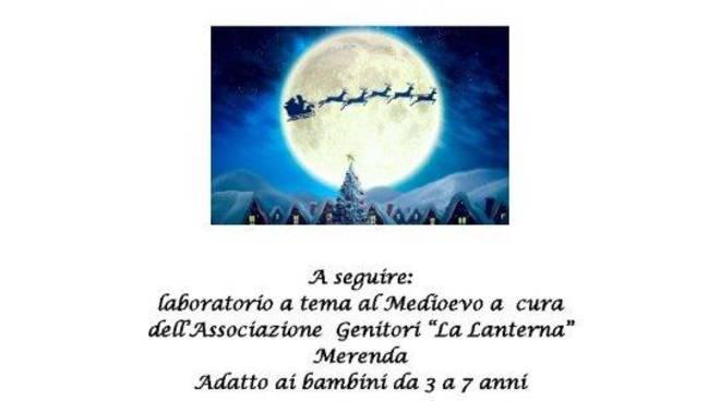 bianco natale 2019 ad olgiate, presentazione calendario con sindaco e logo