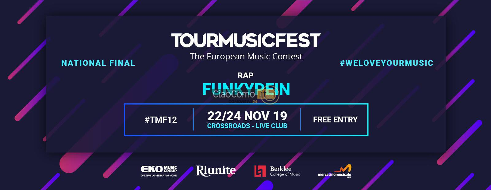 Comunicato Stampa FunkyPein - Tour Music Fest 2019