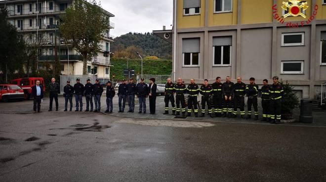 I pompieri di Como in lutto: ricordano i colleghi morti ad Alessandria