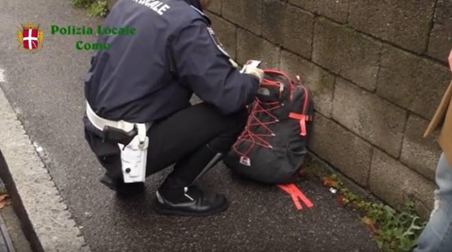 polizia locale di como controlli antidroga studenti zaini scuole como