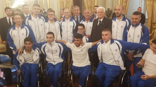 ricevimento atleti paraolimpici da mattarella anche coach bergna briantea84