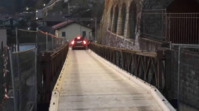 aperto ponte di rovenna di cernobbio a superare la frana