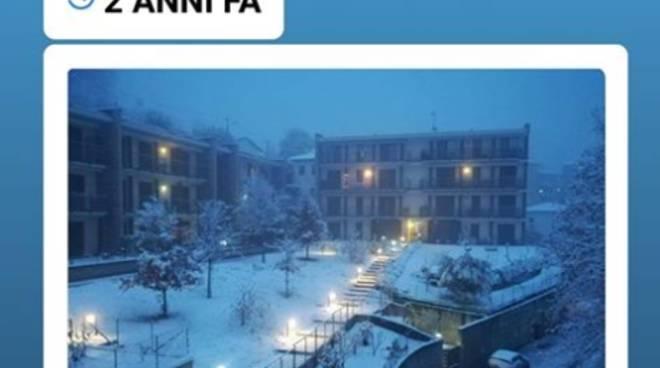 neve due anni fa nel comasco, foto di meteorologia comasca sul post facebook