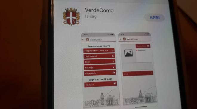 presentazione nuova app verde comune di como con assessore marco galli