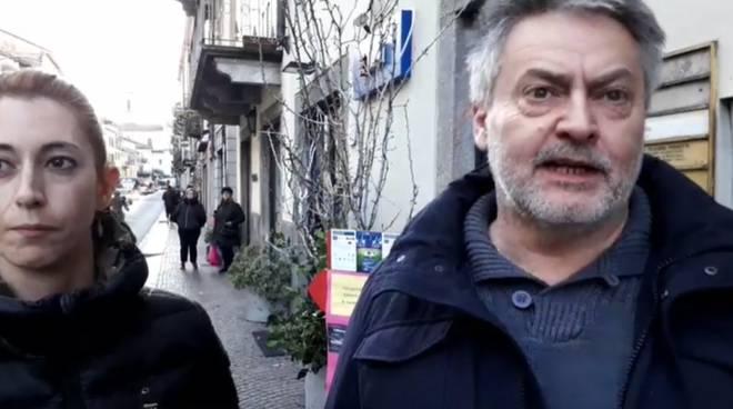 protesta commercianti di via Milano per la chiusura della strada il sabato pomeriggio
