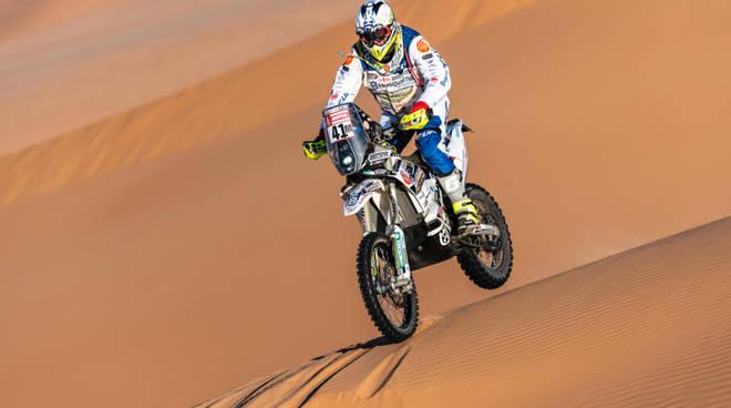 Dakar jacopo cerutti sulle dune tappa di oggi