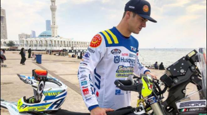 jacopo cerutti pronto per la sua avventura alla dakar 2020 foto ufficiale e moto