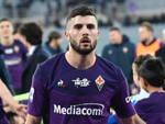 patrick cutrone con la maglia della fiorentina subito gol in coppa italia