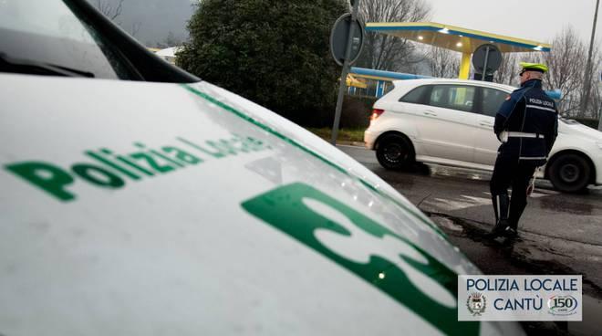 polizia locale cantù controlli strada con nuovi strumenti