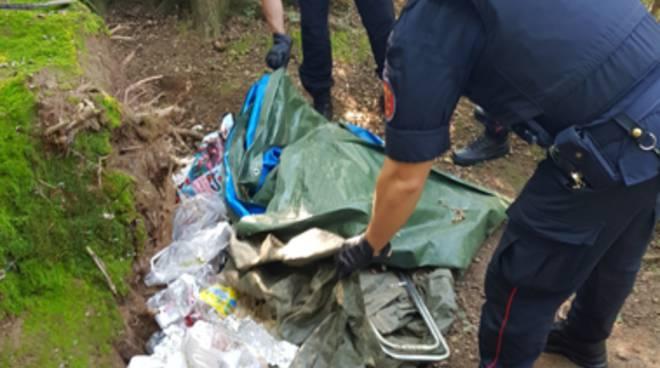 spaccio droga parco pineta appiano arresti carabinieri droga e capanno per lo spaccio
