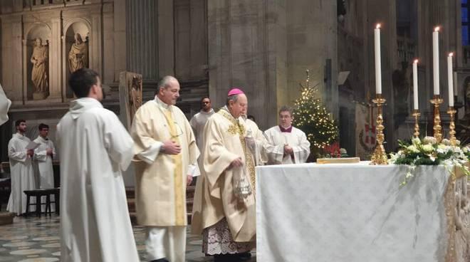 vescovo di como cantoni celebra te deum fine anno duomo