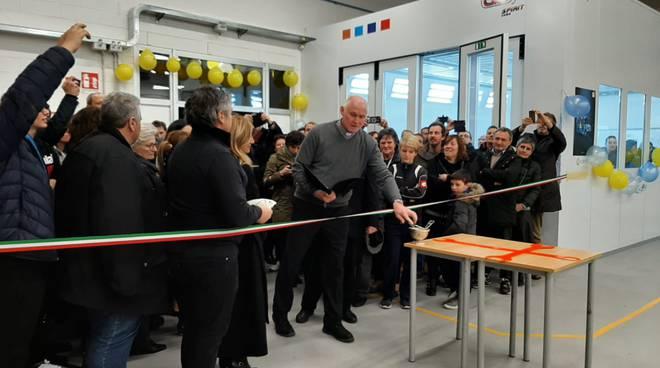 inaugurazione laboratorio carrozzeria albate centro padri somaschi con assessore bonduri