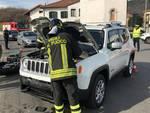 incidente auto e jeep uggiate trevano soccorsi pompieri posto