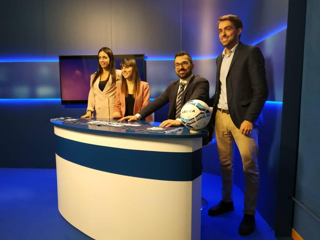 La presentazione di como tv oggi stadio Sinigaglia, studio e protagonisti