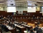 senatrice segre in consiglio regionale saluto presidente fermi e fontana