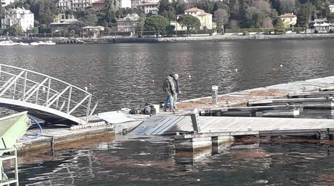 tregua del vento nel comasco, sistemazione danni strade e lago
