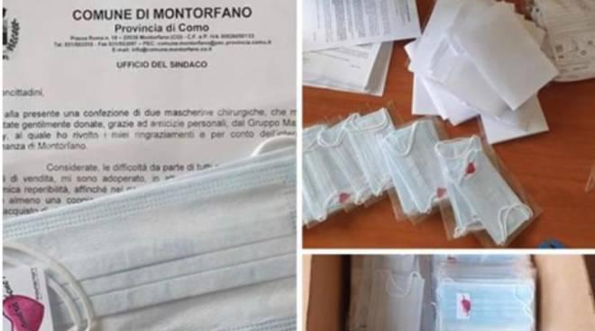 distribuzione mascherine con lettera comune di montorfano