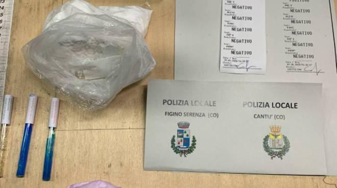 droga sequestrata da polizia locale figino serenza bosco ovuli cocaina