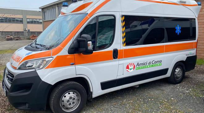 Nuova Ambulanza Croce Azzurra da Amici di Como