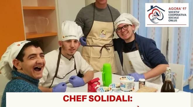 iniziativa chef solidali con agorà97 e associazione provinciale cuochi per emergenza virus