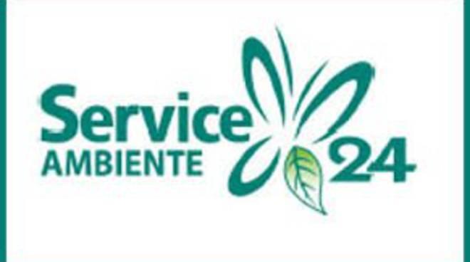 logo service 24 piattaforma raccolta rifiuti