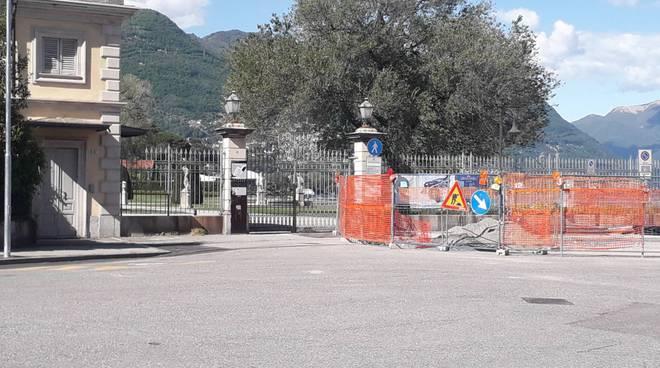 parco villa olmo chiuso per emergenza coronavirus