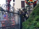 cancello pericolante rsa villa stefania sala comacina intervento pompieri
