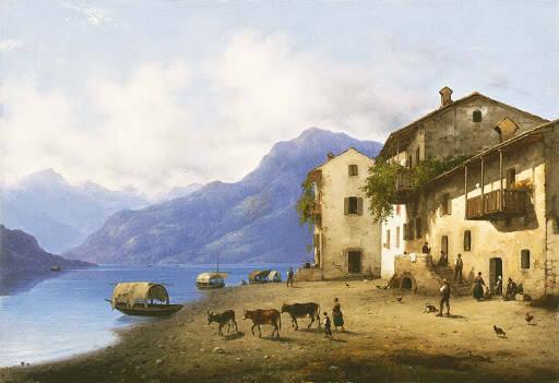 Giuseppe Canella – Veduta di Sala sul Lago di Como