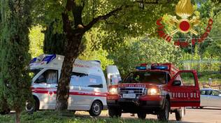 incidente parco spina verde monte olimpino 40enne soccorso con ambulanza e pompieri