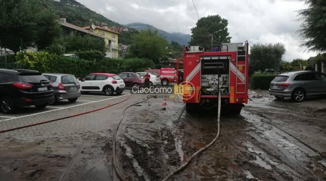 alto lago disagi per maltempo pompieri fango