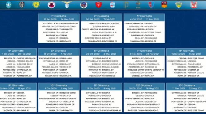 calendario calcio femminile serie B nuova stagione