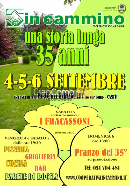 Festa 35° Cooperativa sociale In Cammino