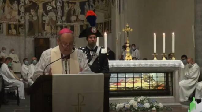 vescovo oscar cantoni messa sant'abbondio 2020