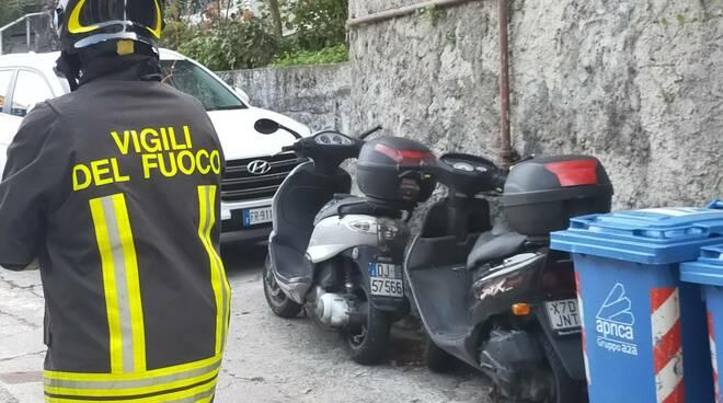 incendio via santa marta a como, pompieri e soccorsi