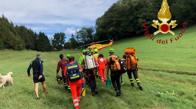 incidente eremo san salvatore erba cade da ferrata