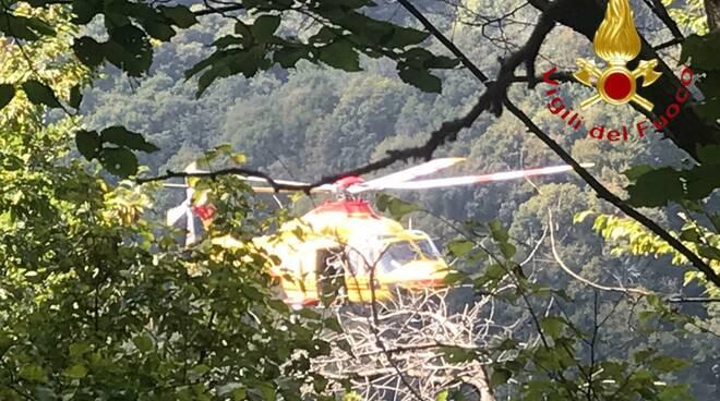 incidente strada bisbino donna soccorsa elicottero