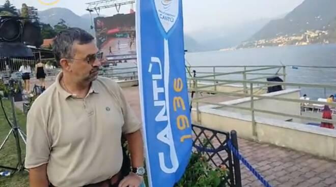 pallacanestro cantù presentazione lido di villa olmo como con sponsor