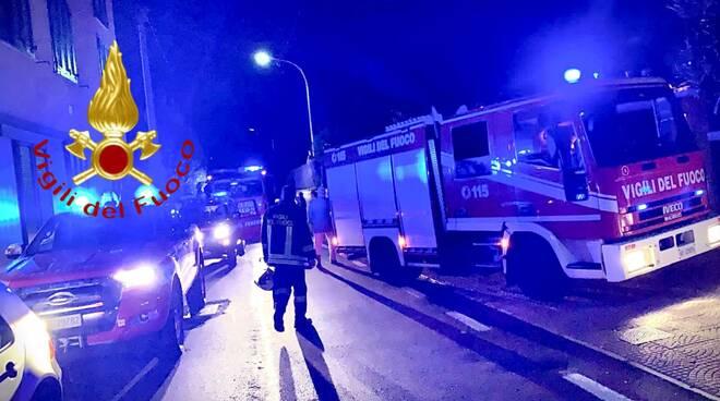 pompieri incendio questa sera albese via repubblica