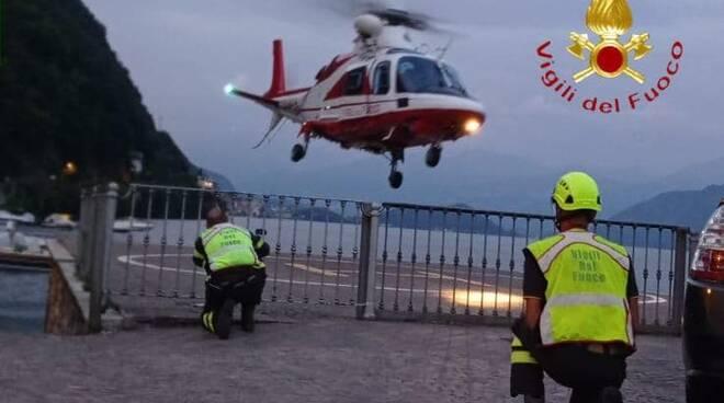 soccorso 118 e vigili del fuoco escursionisti francesi dispersi nel bosco brienno