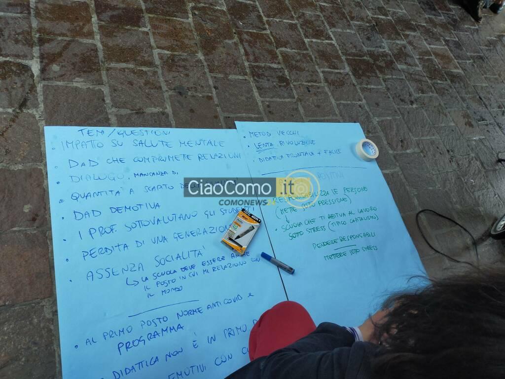 unione studenti protesta scuola oggi a porta torre manifestazione