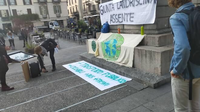 Fridays For Future sciopero per il clima 9 ottobre 2020 piazza Volta