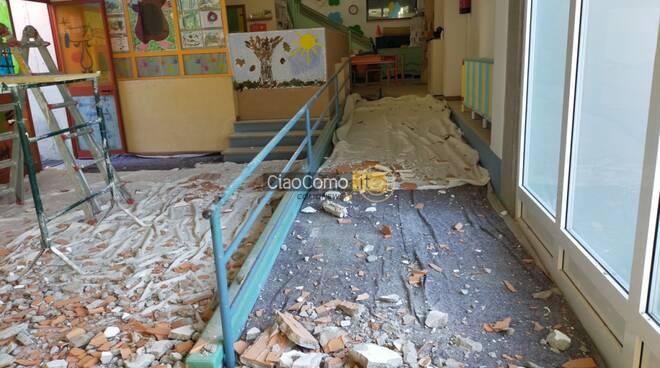 maslianico crollo interno asolo via burgo soffitto e calcinacci