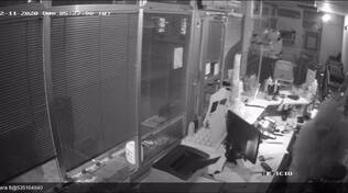 furto distributore como immagini ladro circuito chiuso telecamere