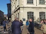 protesta ambulanti mercato di como per poter riprendere a lavorare