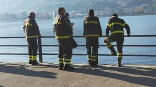 recupero munizioni lago di como con pompieri e carabinieri viale geno
