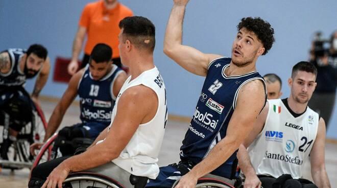 unipolsai briantea vittoria coppa italia basket carrozzina