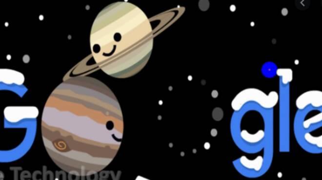 allineamento dei pianeti logo di google