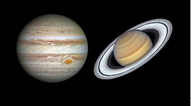 allineamento pianeti giove e saturno vicini