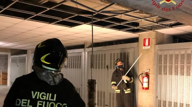 perdita di acqua condominio di cernobbio intervento pompieri
